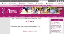SPCF.FR : La licence en histoire de l'art de l'université de Pau