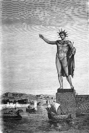 SPCF.FR : Illustration du colosse Rhodes