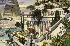 SPCF.FR : Illustration des jardins suspendus de Babylone