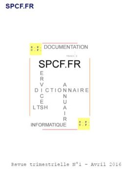 SPCF.FR : La revue trimestrielle N°1 d'avril 2016