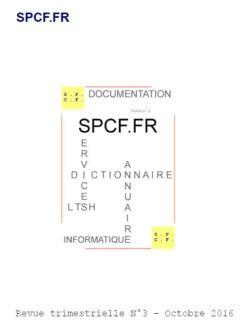 SPCF.FR : La revue trimestrielle N°3 d'Octobre 2016
